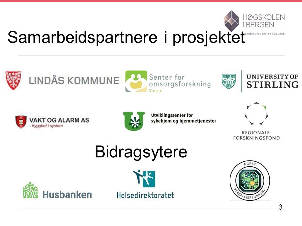 Samarbeidspartnere i prosjektet Bidragsytere 3