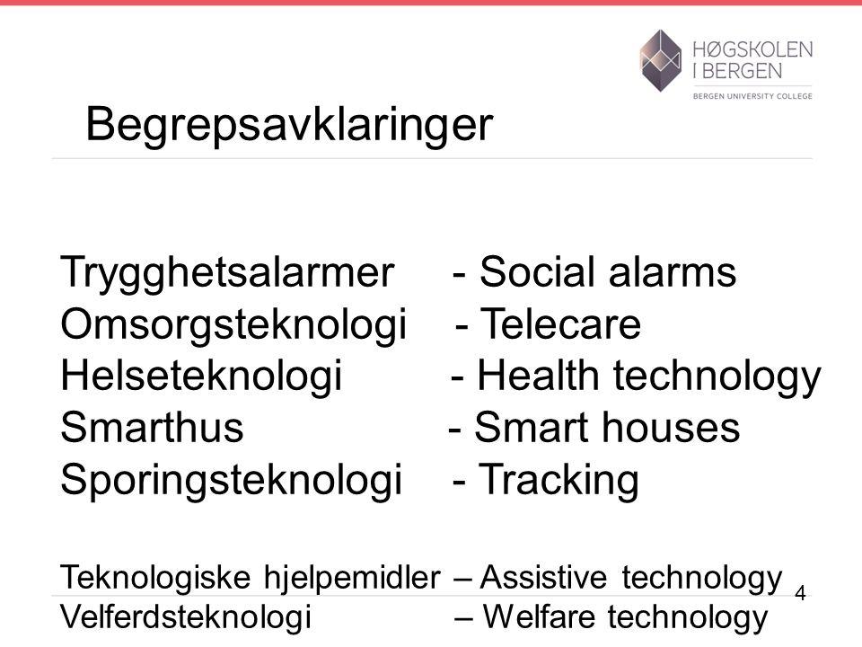 Evaluering av omsorgsteknologi Mål: Kommunesektoren skal utvikle gode og effektive omsorgsløsninger ved hjelp av teknologi 15