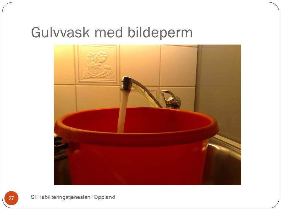 Gulvvask med bildeperm SI Habiliteringstjenesten i Oppland 27