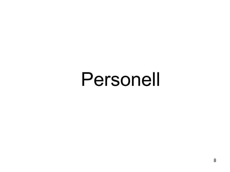 Personell 8