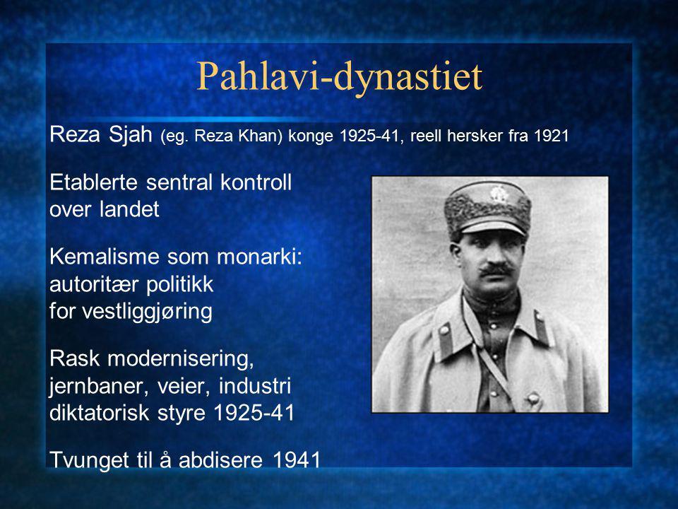 Pahlavi-dynastiet Reza Sjah (eg.