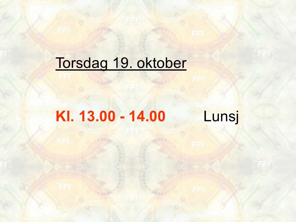 Torsdag 19.oktober Kl. 14.00 - 15.30 Tema: Praksis og næringslivskontakt.
