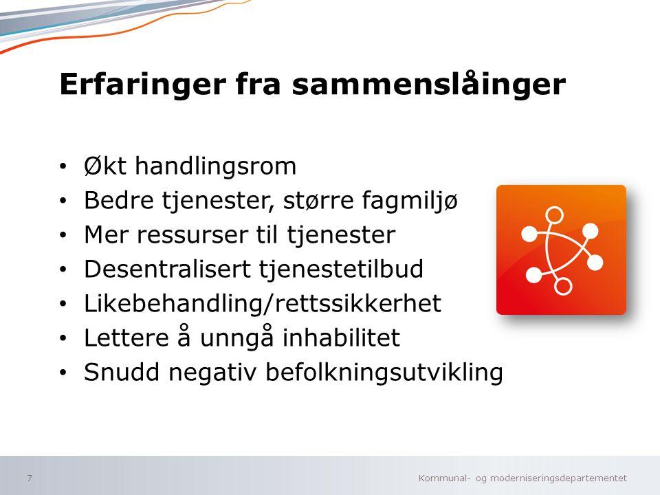 Kommunal- og moderniseringsdepartementet Norsk mal: Sluttside ALTERNATIV B velg KMD mal ENG under oppsett .