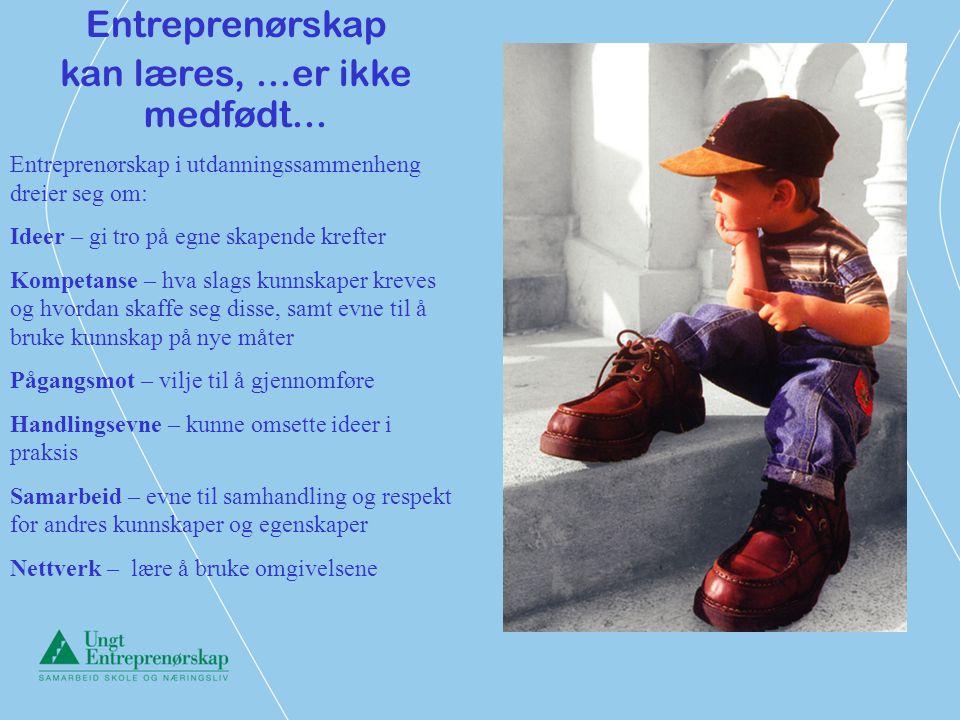 Å inspirere og utruste unge mennesker til læring og suksess gjennom foretaksomhet og entreprenørskap