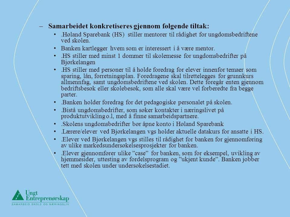 Partnerskap Drømtorp – Ski Storsenter Bjørkelangen – Høland Sparebank