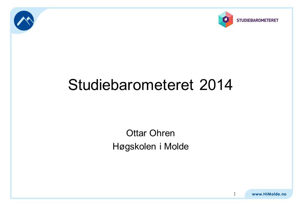 Studiebarometeret 2014 Ottar Ohren Høgskolen i Molde 1