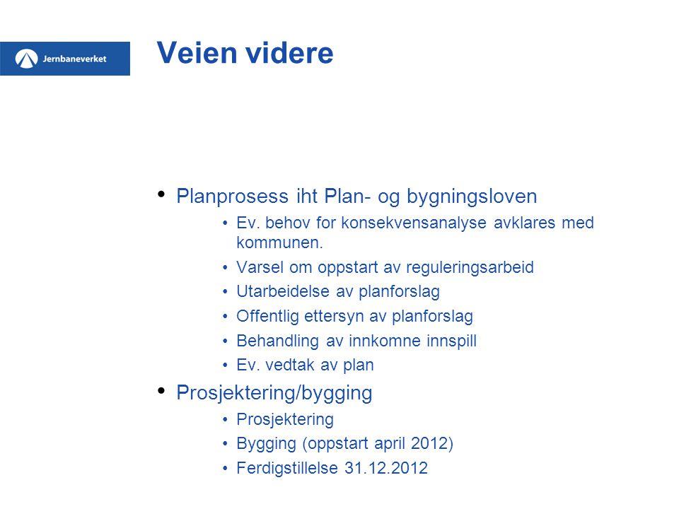 Veien videre Planprosess iht Plan- og bygningsloven Ev. behov for konsekvensanalyse avklares med kommunen. Varsel om oppstart av reguleringsarbeid Uta