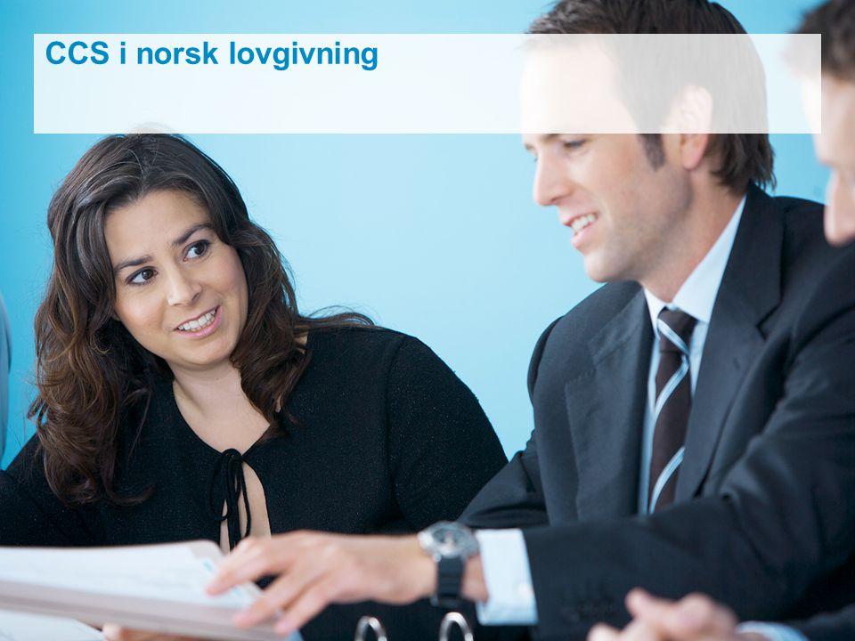 CCS i norsk lovgivning