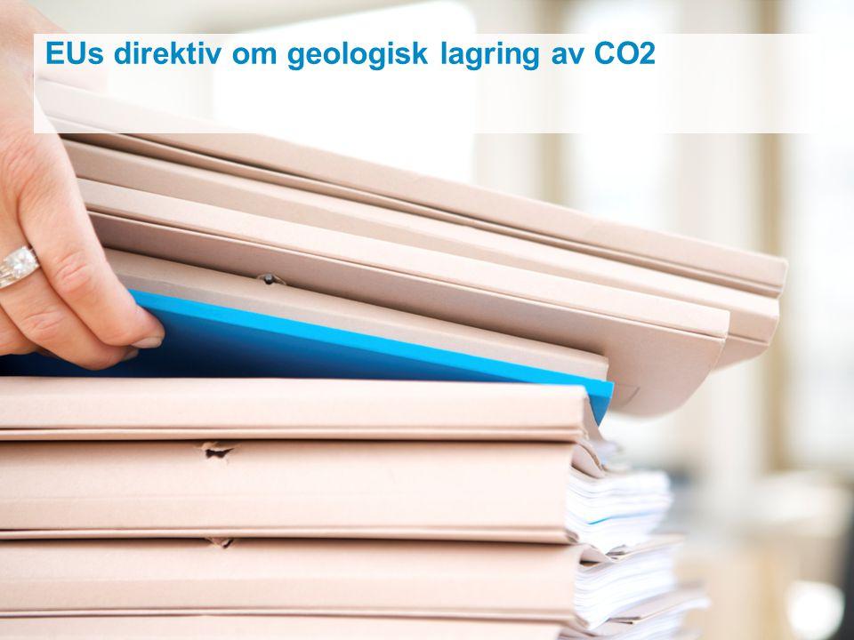 EUs direktiv om geologisk lagring av CO2
