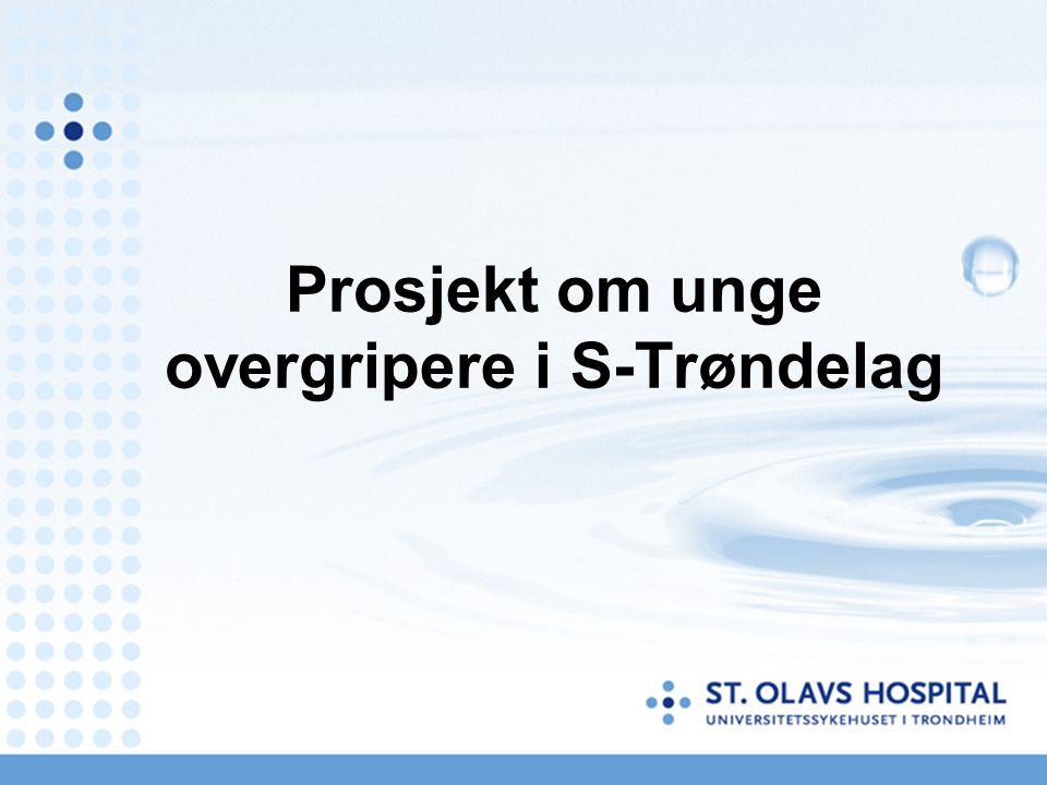 Prosjekt om unge overgripere i S-Trøndelag