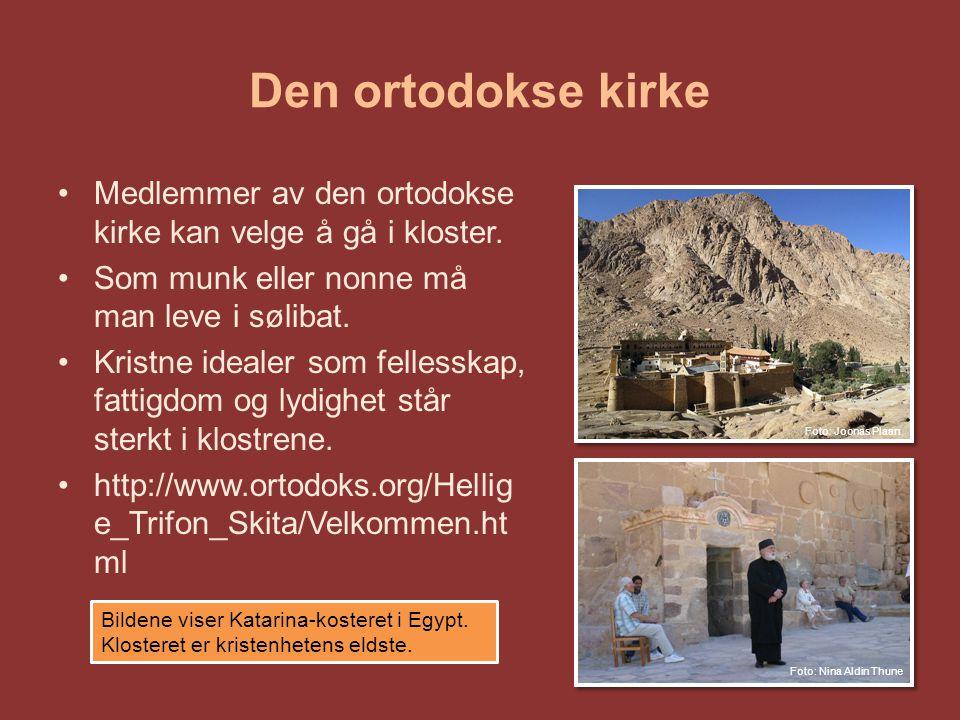 Den ortodokse kirke Medlemmer av den ortodokse kirke kan velge å gå i kloster.