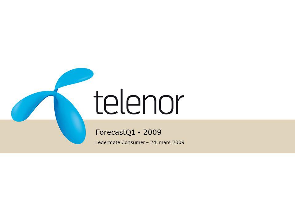 ForecastQ1 - 2009 Ledermøte Consumer – 24. mars 2009