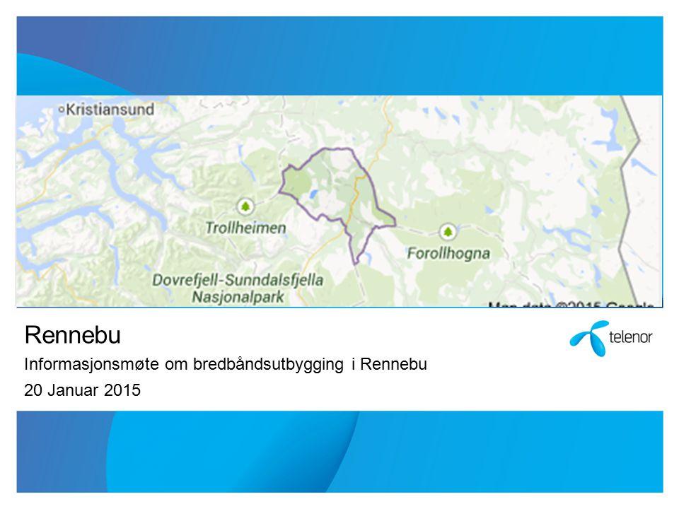 Rennebu Informasjonsmøte om bredbåndsutbygging i Rennebu 20 Januar 2015