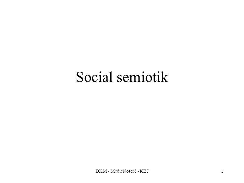 DKM - MedieNoter8 - KBJ1 Social semiotik