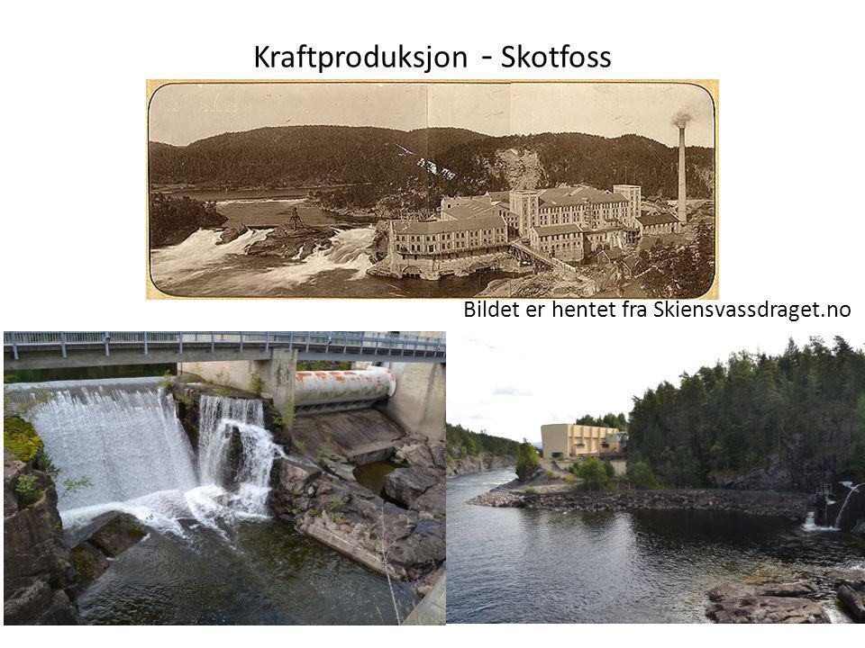 Kraftproduksjon - Skotfoss Bildet er hentet fra Skiensvassdraget.no