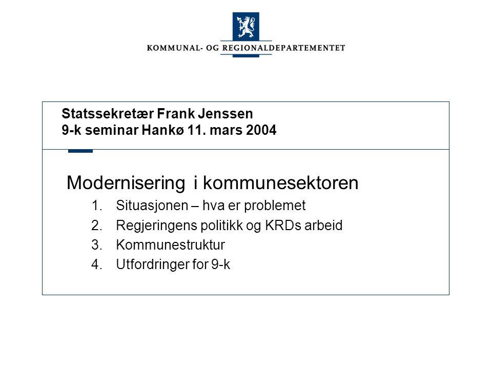 Statssekretær Frank Jenssen 9-k seminar Hankø 11.
