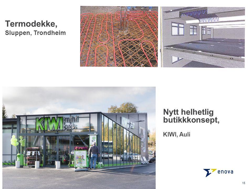 Termodekke, Sluppen, Trondheim 15 Nytt helhetlig butikkkonsept, KIWI, Auli