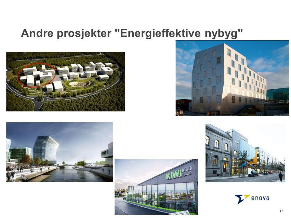 Andre prosjekter Energieffektive nybyg 17