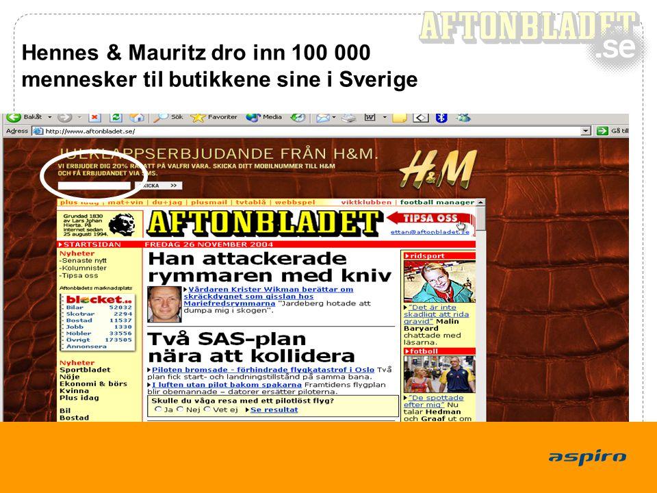9 Hennes & Mauritz dro inn 100 000 mennesker til butikkene sine i Sverige