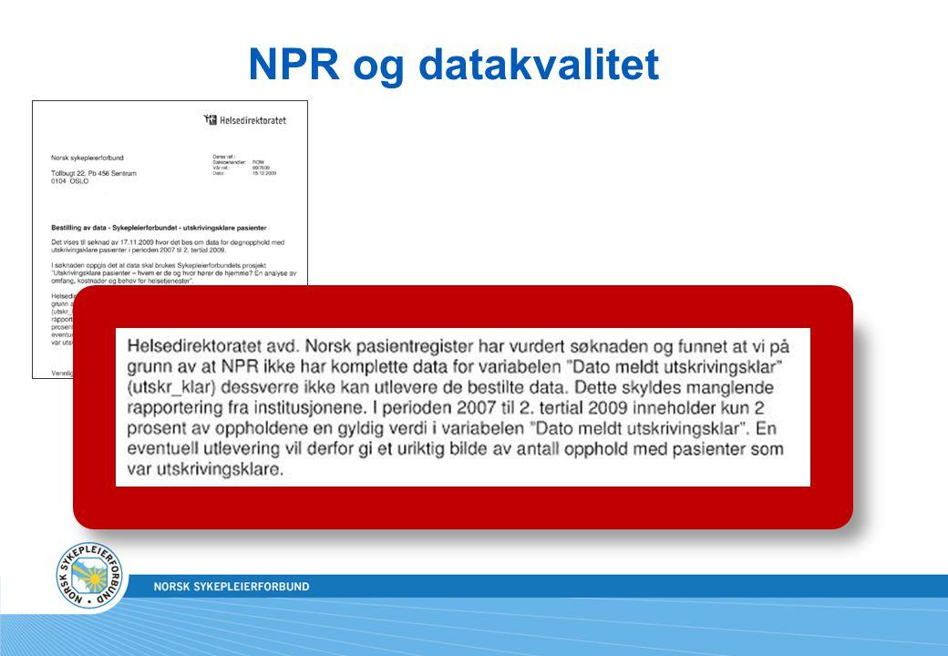 NPR og datakvalitet