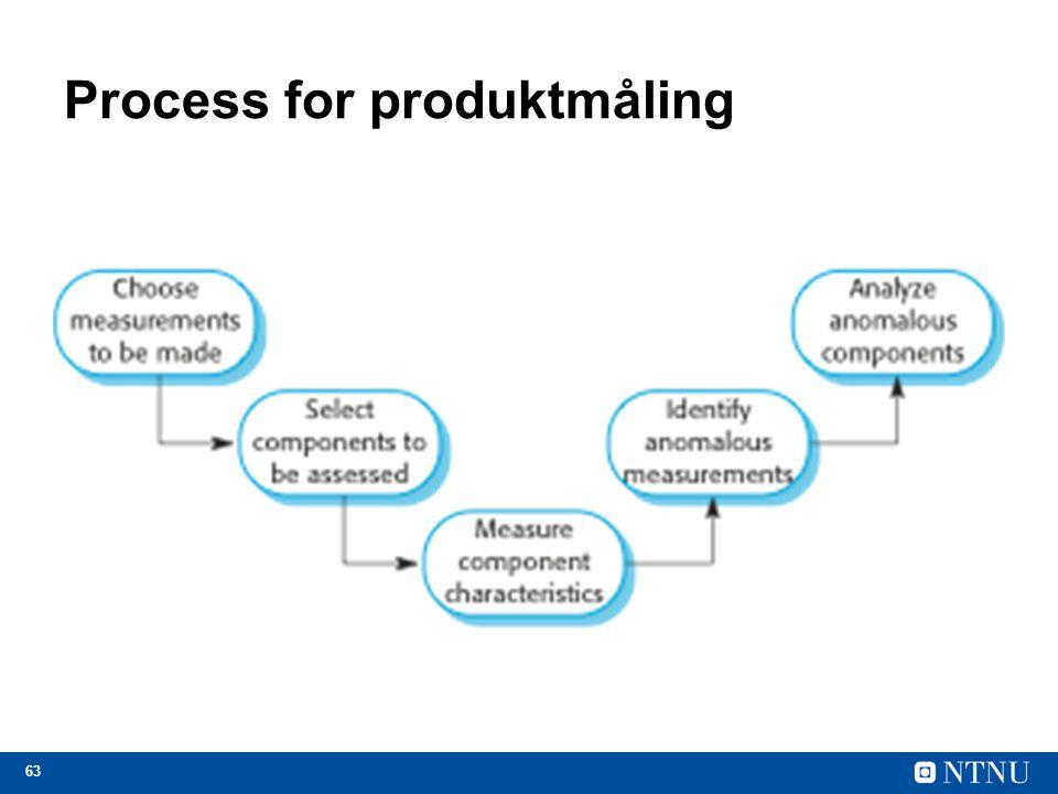 63 Process for produktmåling