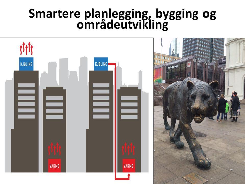Smartere planlegging, bygging og områdeutvikling