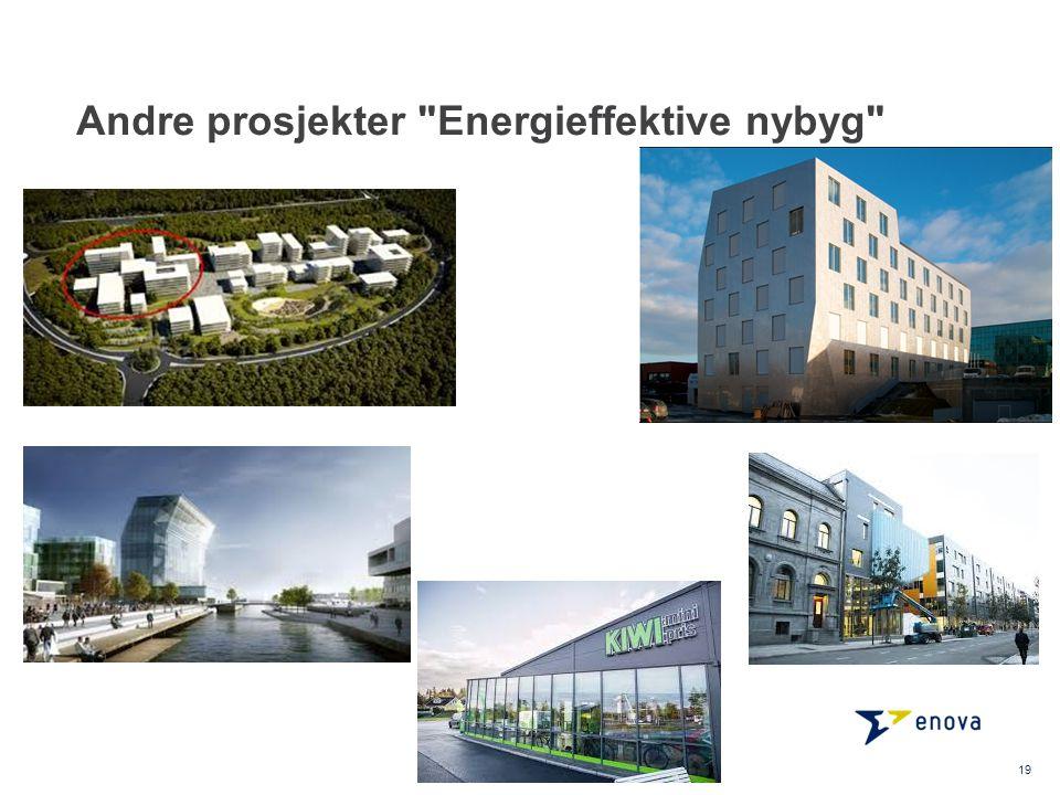 Andre prosjekter Energieffektive nybyg 19