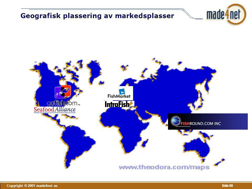 Copyright © 2001 made4net as Side 49 Geografisk plassering av markedsplasser