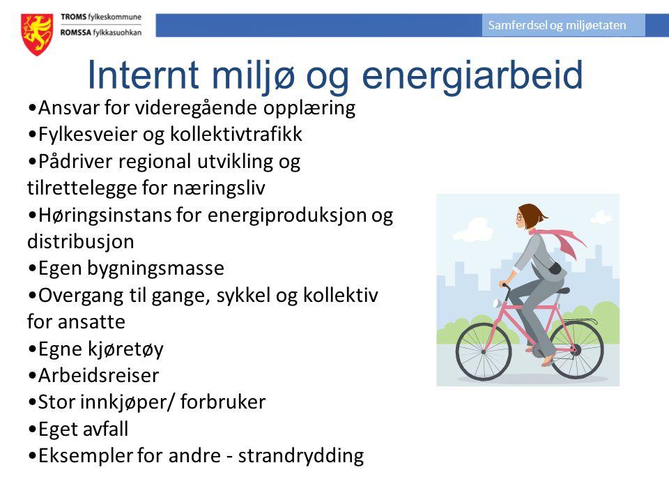 Klimastrategi vedtatt av FT i 2007 Troms fylkeskommune skal arbeide for at hele fylkeskommunens organisasjon skal være miljøsertifisert som Miljøfyrtårn innen 2010.