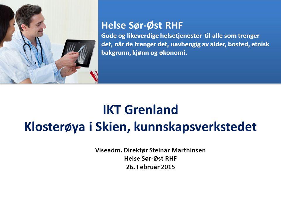 Ansvarsområder i Helse Sør-Øst RHF: Helse Sør-Øst RHF Fast stedfortreder for adm.