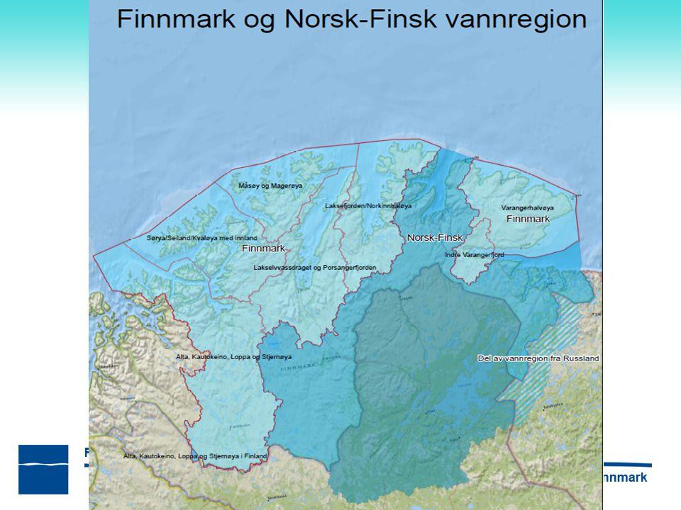 Tiltak Mesteparten av påvirkningene i Finnmark er knyttet til forurensning Omtrent halvparten av tiltakene er problemkartlegging – For å fastslå påvirkningsgrad og økologisk tilstand – Gjelder mange vannforekomster påvirket av vannkraft (SMVF) I liten grad tilstrekkelig kunnskap om påvirkning, miljøtilstand og konkrete tiltak til å vurdere kostnader – Ingen informasjon om fordelingsvirkninger – hvem må gjøre mest.