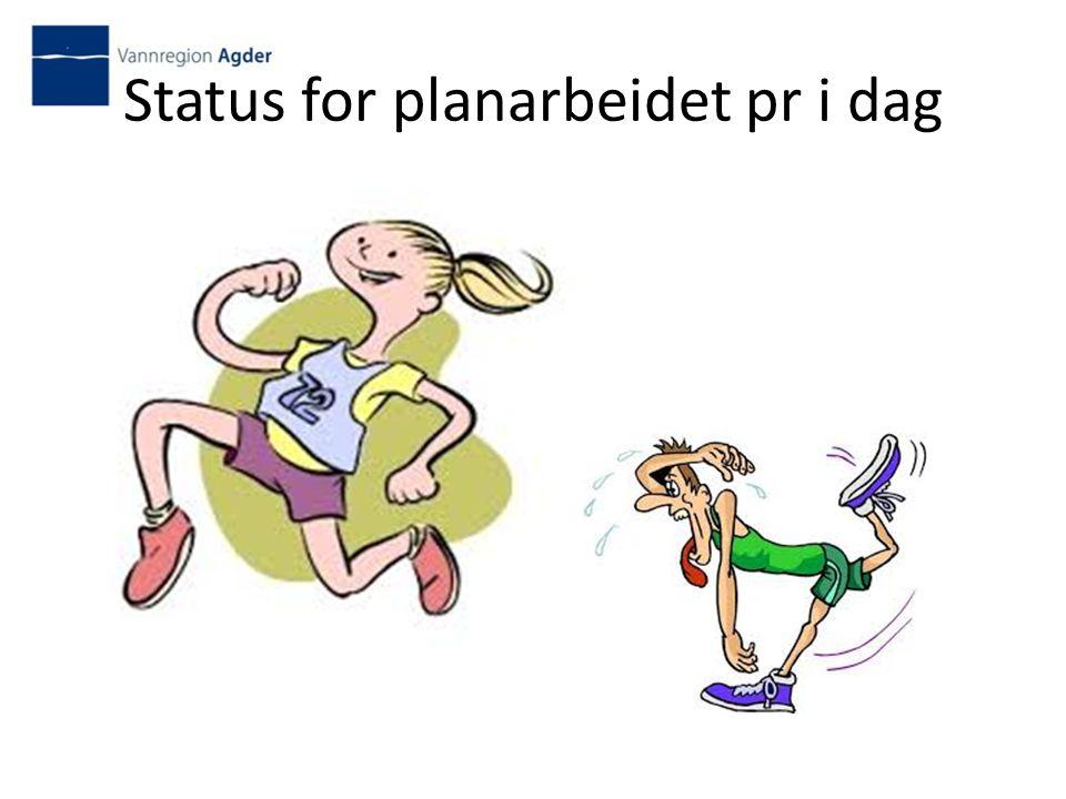 Status for planarbeidet pr i dag