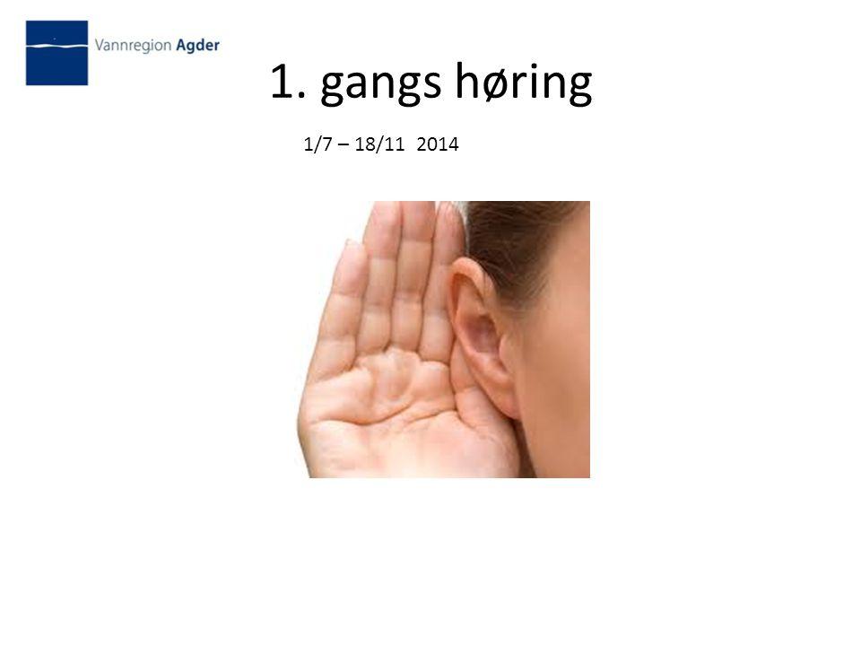 1. gangs høring 1/7 – 18/11 2014