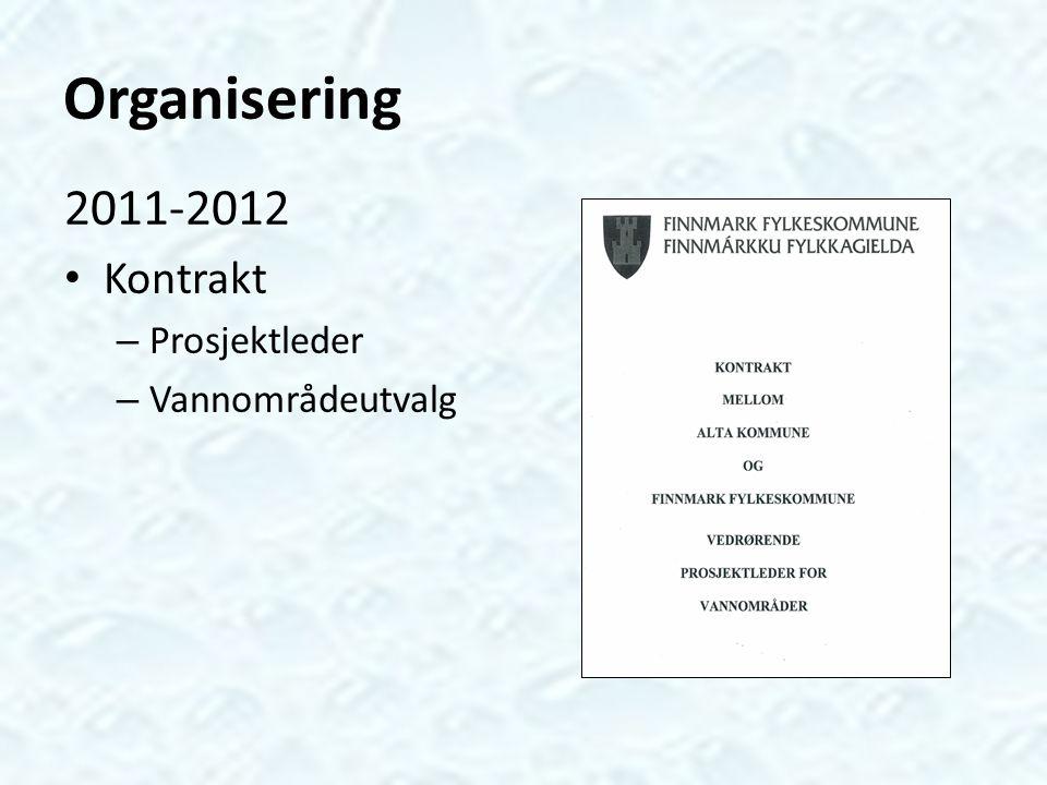 Organisering 2013-2015 Prosjekt – Prosjektleder – Vannområdeutvalg
