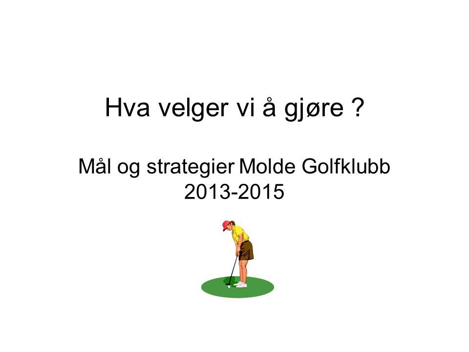 Hva velger vi å gjøre ? Mål og strategier Molde Golfklubb 2013-2015