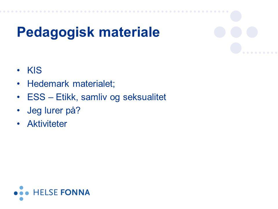 KIS Hedemark materialet; ESS – Etikk, samliv og seksualitet Jeg lurer på.