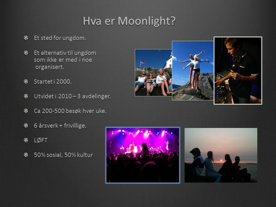 Hva er Moonlight. Et sted for ungdom. Et alternativ til ungdom som ikke er med i noe organisert.
