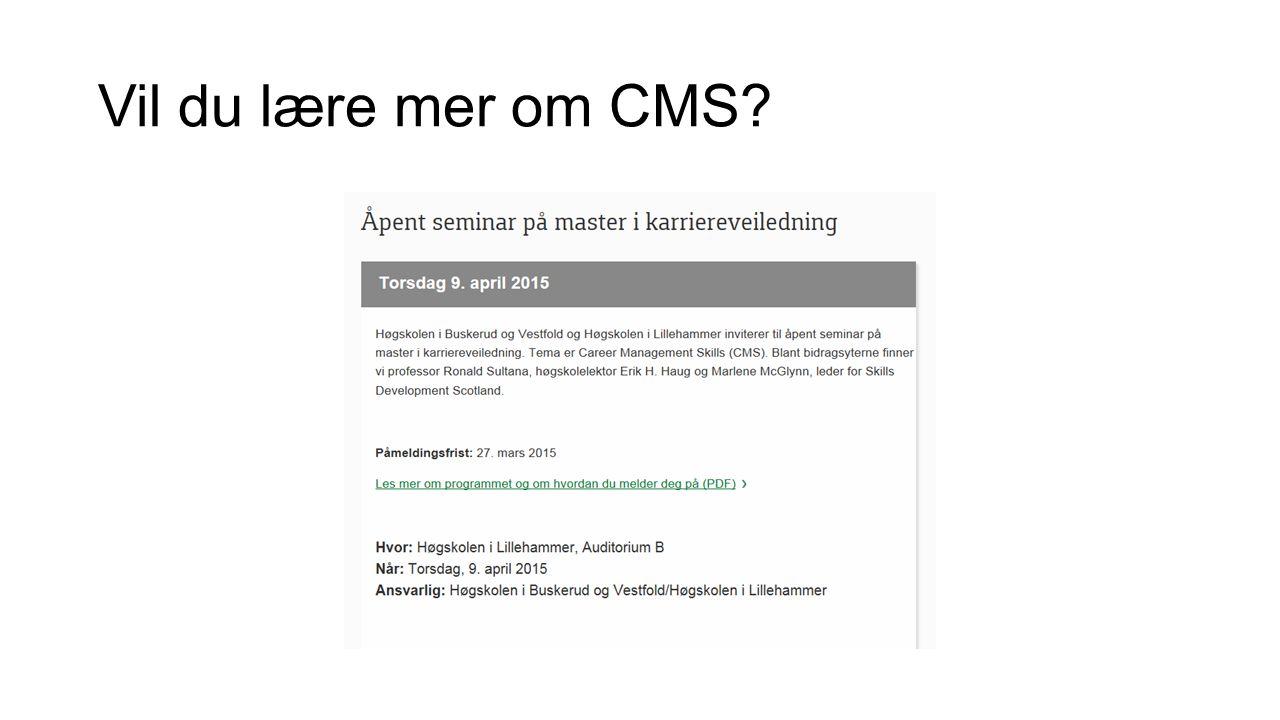 Vil du lære mer om CMS?