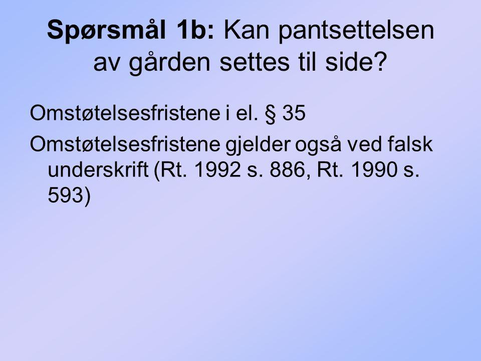 Spørsmål 2a: Kunne Peder pantsette hytta uten Martes samtykke.
