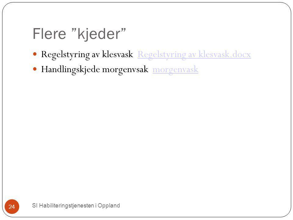 """Flere """"kjeder"""" SI Habiliteringstjenesten i Oppland 24 Regelstyring av klesvask Regelstyring av klesvask.docxRegelstyring av klesvask.docx Handlingskje"""