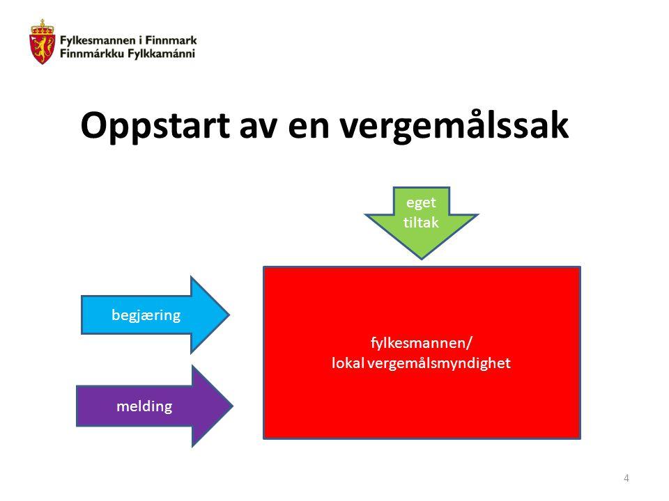 Norsk mal: Diagram Tips farger: JDs fargepalett er lagt inn i malen og vil brukes automatisk i diagrammer og grafer Oppstart av en vergemålssak meldin
