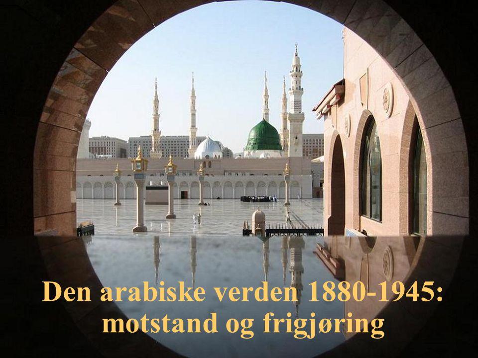 Politisk uavhengighet Marokko 1956 Algerie 1962 Tunisia 1956 Libya 1951 Egypt 1922/36 Syria 1946 Libanon 1943 (Trans)jordan 1946 Irak 1932 Kuwait 1961 Bahrain 1971 Qatar 1971 FAE 1971 Oman (1651/1951) Saudi-Arabia (1932) Jemen (1990) Arabiske liga 1945