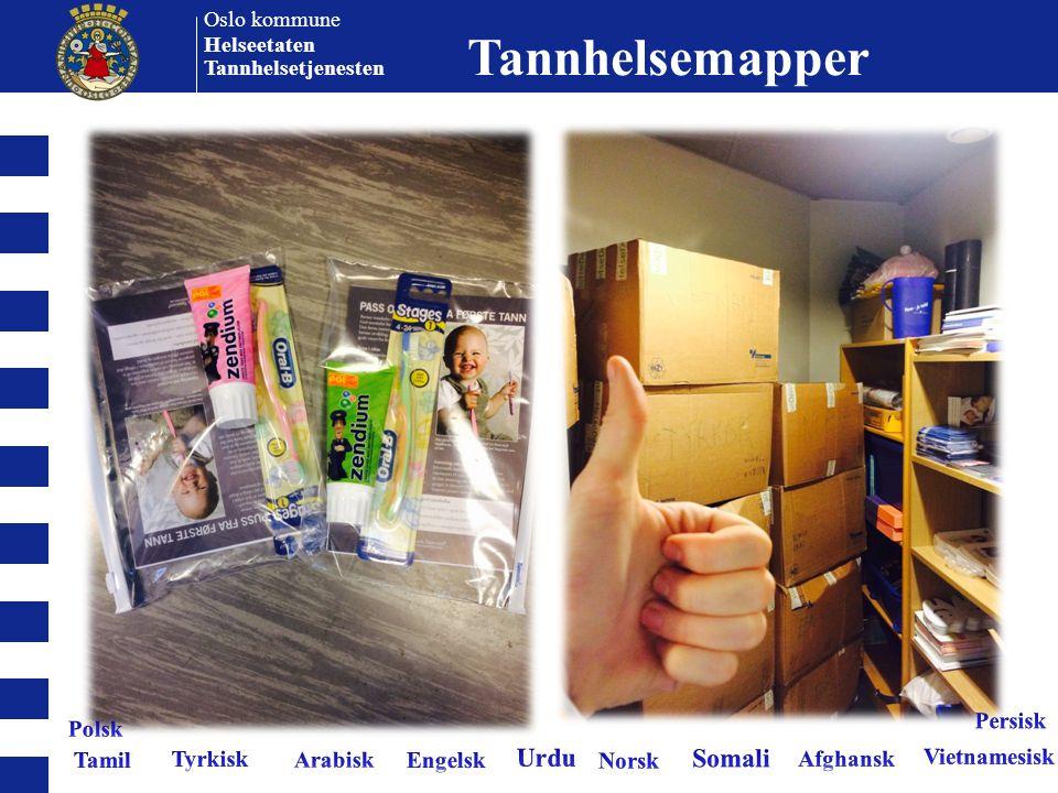 Oslo kommune Helseetaten Tannhelsetjenesten Tannhelsemapper