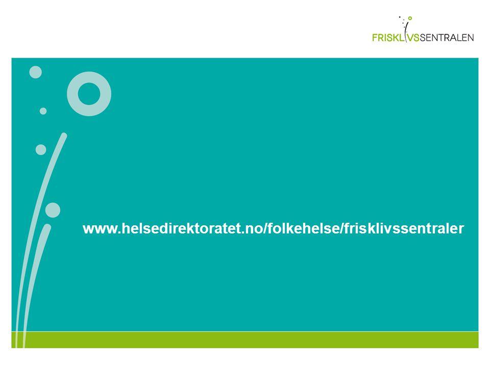 www.helsedirektoratet.no/folkehelse/frisklivssentraler