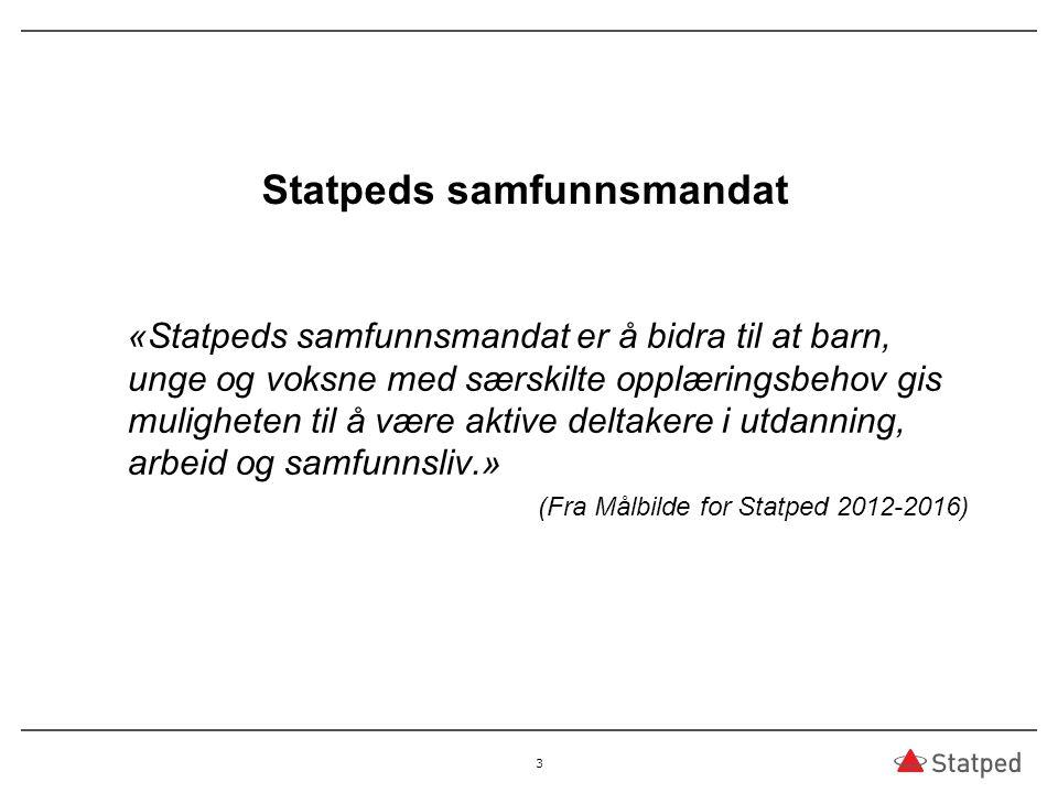 Hva er målene for Statpeds virksomhet.