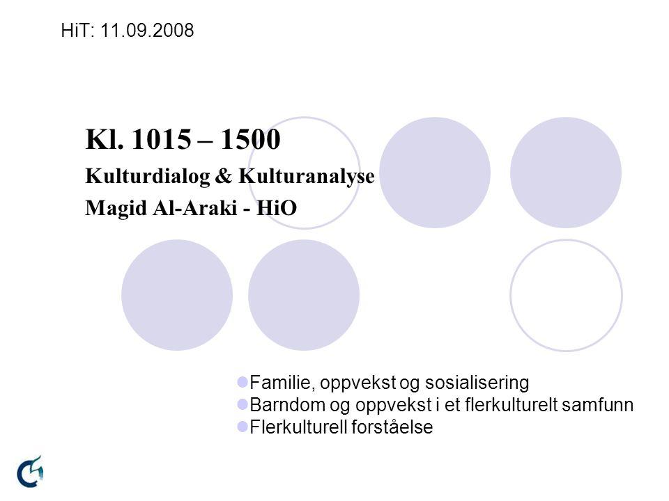HiT_spm_1: 11.9.08 Hva slags tanker og forventninger har flyktninger/asylsøkere til norske barnehager.
