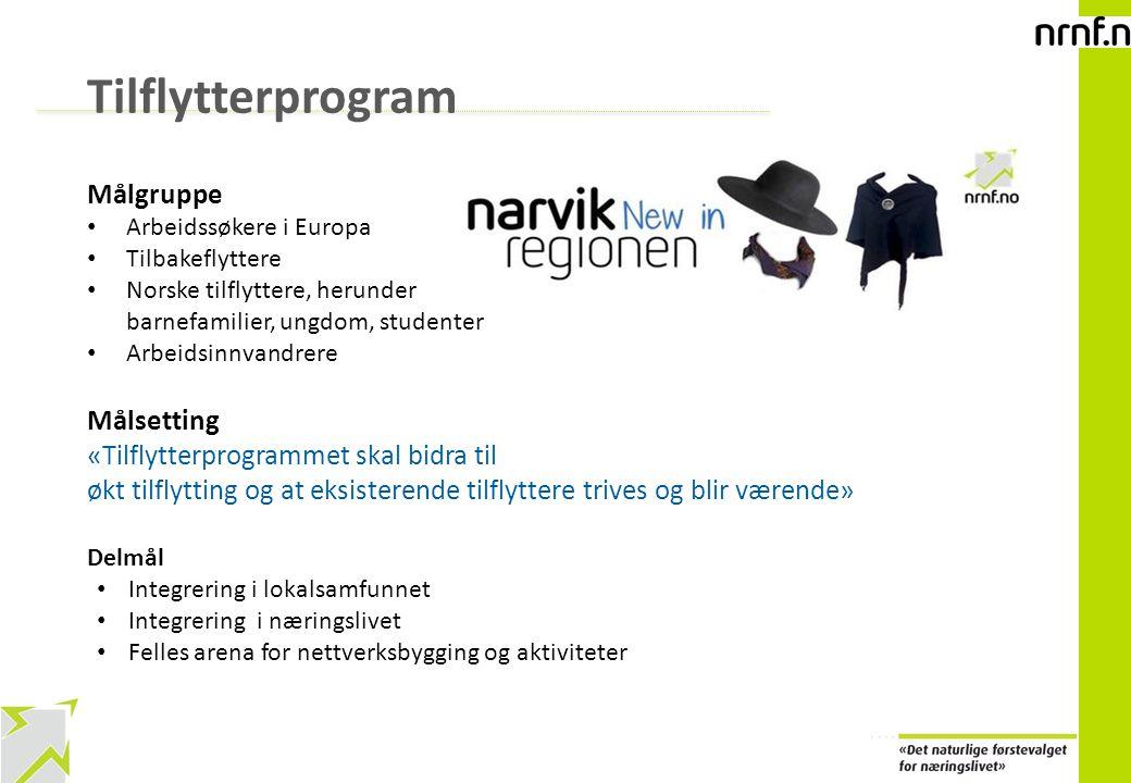 9 Tilflytterprogram Målgruppe Arbeidssøkere i Europa Tilbakeflyttere Norske tilflyttere, herunder barnefamilier, ungdom, studenter Arbeidsinnvandrere