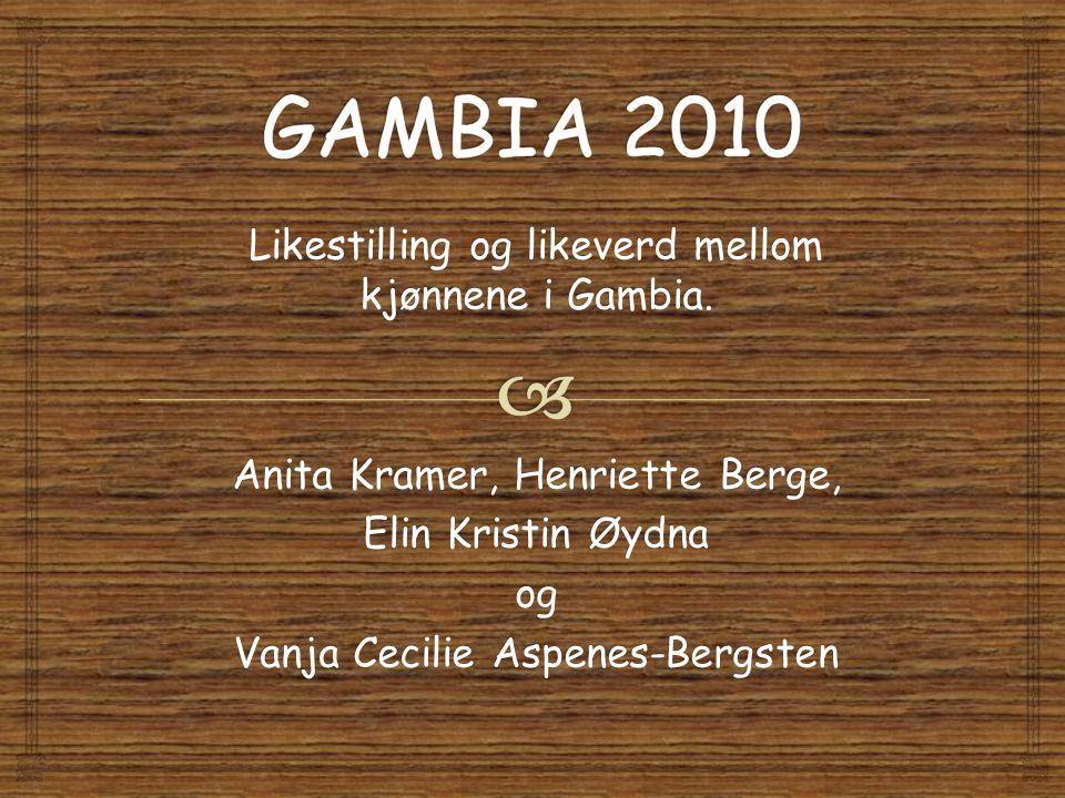 Likestilling og likeverd mellom kjønnene i Gambia.