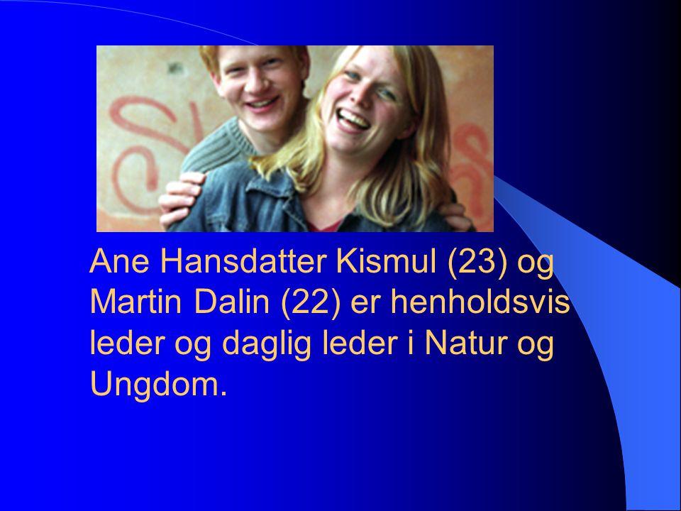 Ane Hansdatter Kismul (23) og Martin Dalin (22) er henholdsvis leder og daglig leder i Natur og Ungdom.