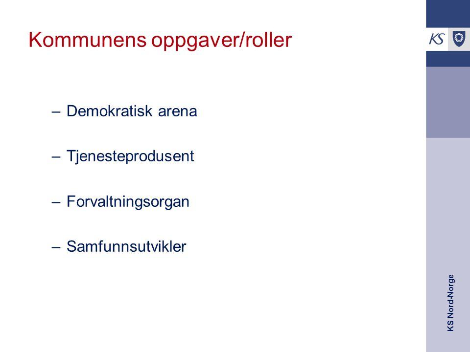 KS Nord-Norge Kommunen er prioriteringseffektiv Effektiv i forhold til sammensettingen av det samla tjenestetilbudet, sett i forhold til behov i kommunen og innbyggerne sine preferanser (Det de er villig til å betale for) Dette forutsette at behovene er ulike og ulikt sammensatt i ulike deler av landet